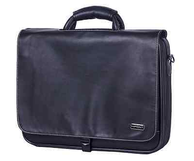"15.6"" - 17""  Widescreen Leather Laptop Bag Notebook Carry Case Shoulder Strap"