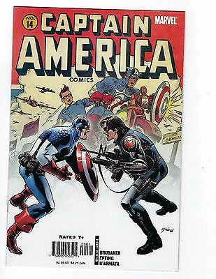 Captain America # 14 Marvel NM Golden Age Homage Cover 1st Bucky as Cap