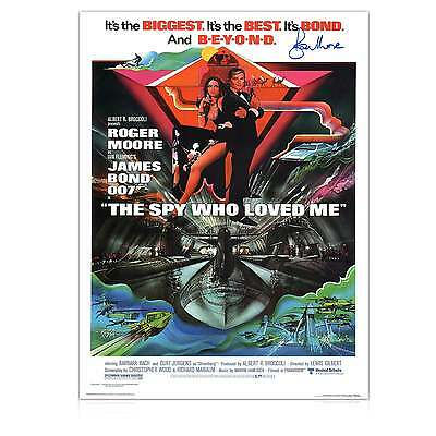 Roger Moore Signed The Spy Who Loved Me 007 James Bond Film Poster