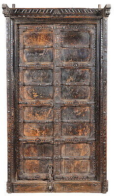 "36"" L Elizabeth antique door set hand crafted unique distressed finish"