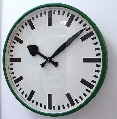 Massive TN West German 1970s Vintage Retro Midcentury Industrial Factory Clock