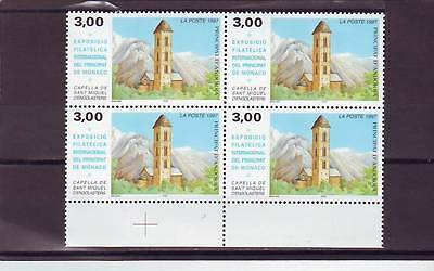 Andorra(French) - Sgf534 Mnh 1997 St Michaels Chapel - Block Of 4