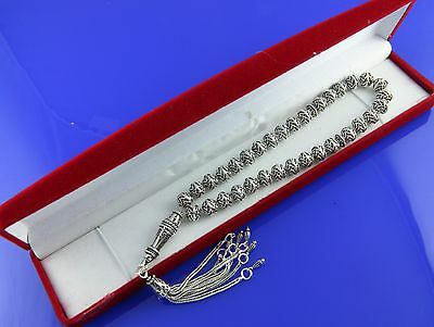925 sterling silver 33 Islamic Prayer Beads Misbaha Tesbih Tasbih ottaman 501009