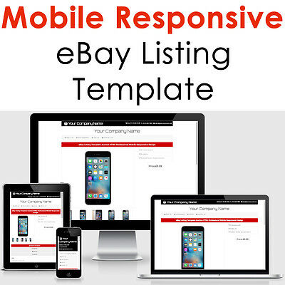 Ebay Template Responsive Professional Listing Auction Html Mobile 2017 Design