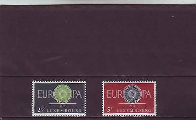 Luxembourg - Sg683-684 Mnh 1960 Europa - Conference Emblem
