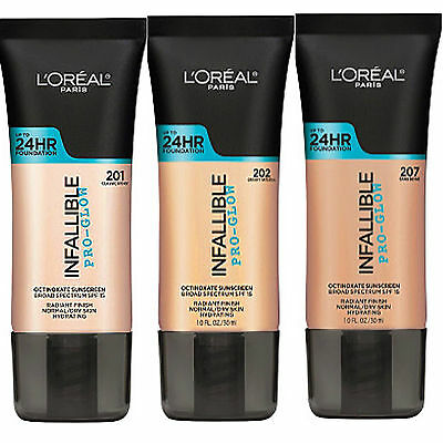 L'oreal Infallible Pro-Glow 24Hr Foundation New & Sealed Please Select Shade