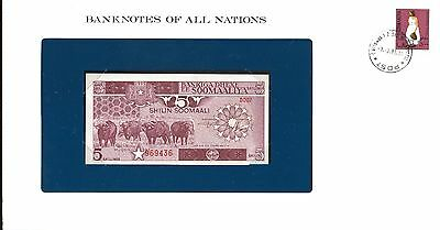 "Somalia ~ 1983~ 5 Shillings Note ~ Cu ~ ""banknotes Of All Nation"