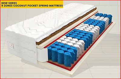 7 Inch! 3Ft6! Coconut Individual Pocket Sprung Mattress! Fast Delivery! Free!