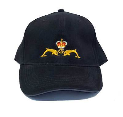 HM Submarines Dolphins Navy Baseball cap with submariners badge.