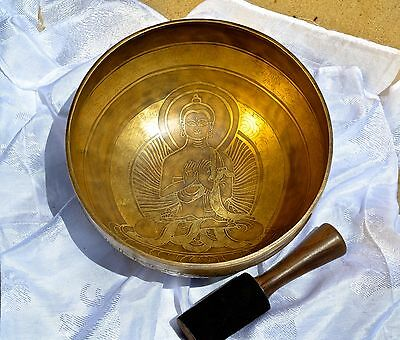 Tibetan Sound Healing Bowls Hand Made Inlaid Mantras