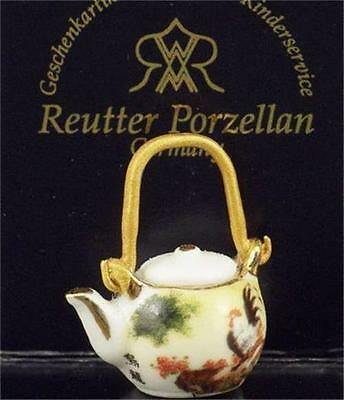 DOLLHOUSE Japanese Teapot 1.932/0 Reutter with Rooster Miniature NEW 1:12
