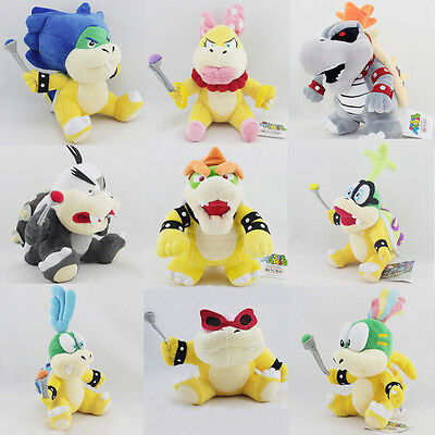 Super Mario Bros. Dry Bowser Bones Ludwig Morton King Magi etc. Koopa Plush Toy