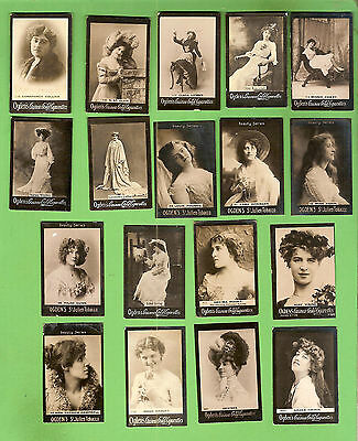 #d208. 18 Ogdens  Tab Cigarette Cards, Actresses, About 1900