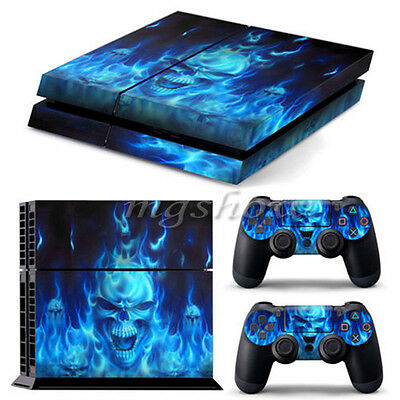 Skull Skin Sticker Cover For PS4 Playstation 4 Console + Controller Vinyl Decal