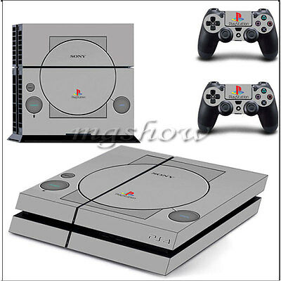 PS1 Skin Sticker Cover For PS4 Playstation 4 Console Controller Decal Set Vinyl