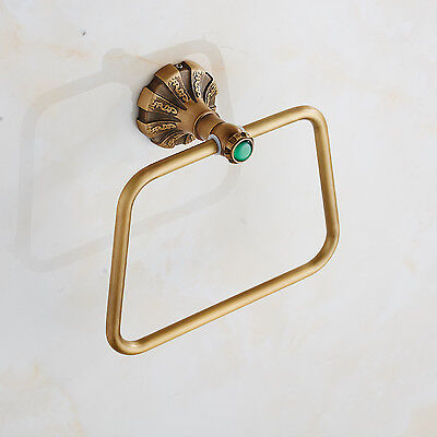 Bathroom Antique Brass Towel Ring Towel Rack Holder Wall Mounted