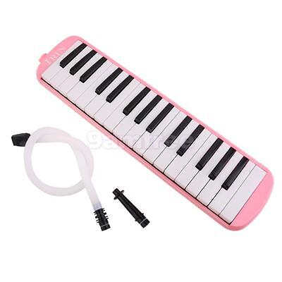 Pink Melodica 32 Keys with Soft Case Mouthpiece Tube Wind Piano Kids Gift