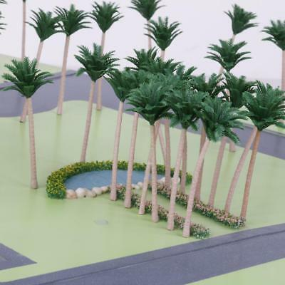 20x Model Palm Trees 12CM Beach Rain Forest Scenery Scale HO OO Train Layout