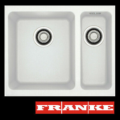 FRANKE Sid 160 1,5 Bowl Undermount Tectonite White Sink Pop-Up Waste New!!