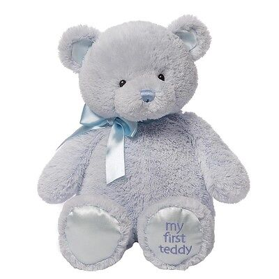GUND PLUSH My First Teddy Bear Large Blue 45.5 cm Height LIST PRICE £24.00