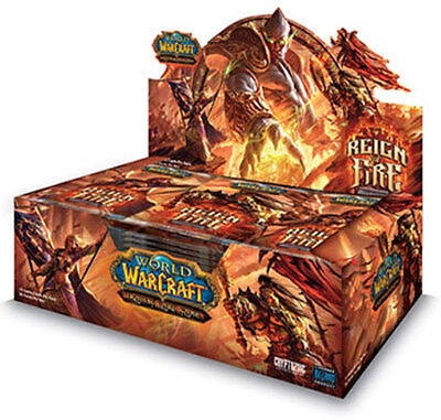World of Warcraft cards WOW REIGN OF FIRE Booster Box SEALED IN HAND!
