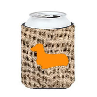 Carolines Treasures Dachshund Burlap And Orange Can Or Bottle Hugger
