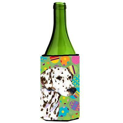 Carolines Treasures Dalmatian Easter Eggtravaganza Wine bottle sleeve Hugger