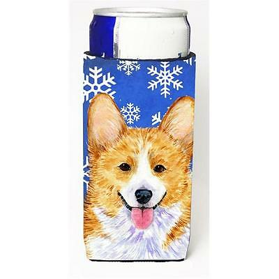 Corgi Winter Snowflakes Holiday Michelob Ultra bottle sleeves for slim cans 1...