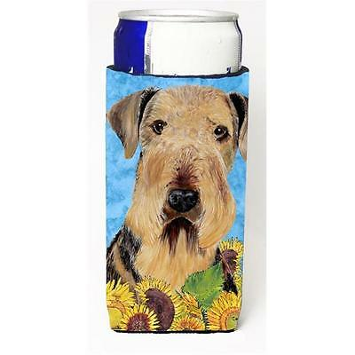 Carolines Treasures Airedale Michelob Ultra bottle sleeves For Slim Cans