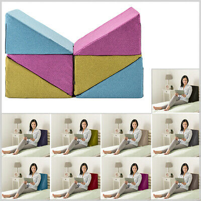 Ava Wool Effect Bed Wedge Cushion Back Rest Upright Support Orthopaedic Pillow