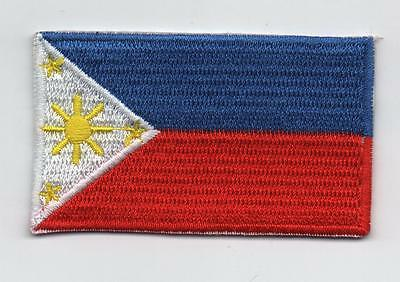 Embroidered PHILIPPINES Flag Iron on Sew on Patch Badge HIGH QUALITY APPLIQUE
