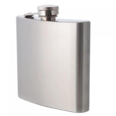 6oz Stainless Steel Whisky Alcohol Hip Flask with Screw Cap