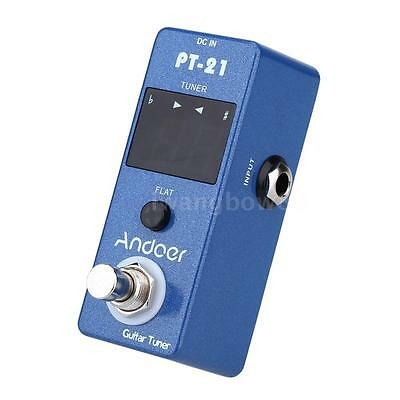 Andoer Guitar Tuner Pedale True Bypass Blu Universale Compact Professional C1H4