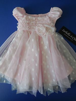 Gorgeous Baby Girl Pink Dress Christening Party Wedding Formal Size 2 Fits 2Y