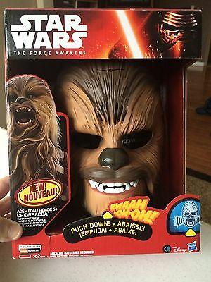 Chewbacca Mask Star Wars: Force Awakens Electronic Costume Toy. Hasbro