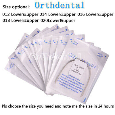 100 PCS Orthodontic Dental Super Elastic Niti Round Arch Wires Natural Form  Ort