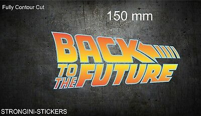 """Back To The Future Sticker Decal Contour Cut On 7-10 Year Vinyl150Mm 6"""" Long"""