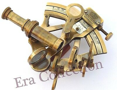 Solid Brass Sextant Nautical Maritime Astrolabe Marine Gift Ships Instrument 3""