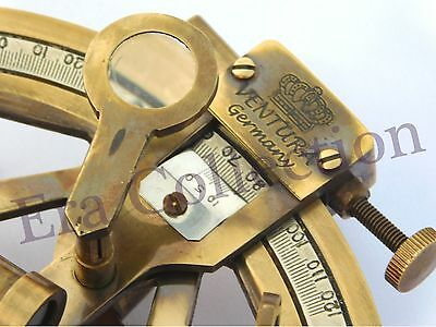 Nautical Solid Brass Sextant Maritime Astrolabe Marine Gift Ships Equipment 3""