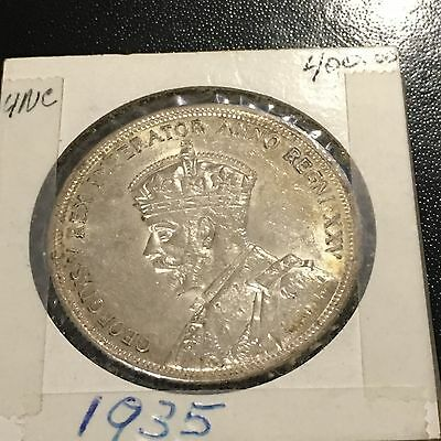 Canadian King George 1935 Silver Dollar Uncirculated