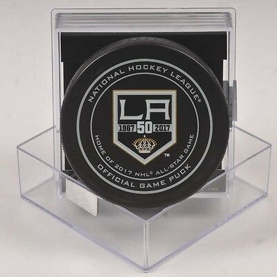 2016-17 Los Angeles Kings 50th Anniversary Official Game Puck