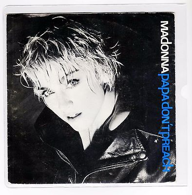 """MADONNA 7 """"  Only Spanish Maxi PAPA DONT PREACH 2 tracks 1986  /16"""