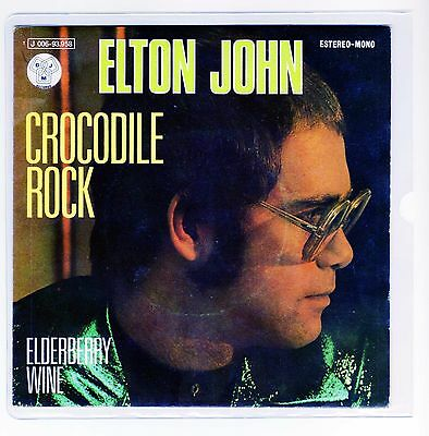 "ELTON JOHN  7 ""  Only Spanish Maxi CROCODILE ROCK 2 tracks 1972  /16"