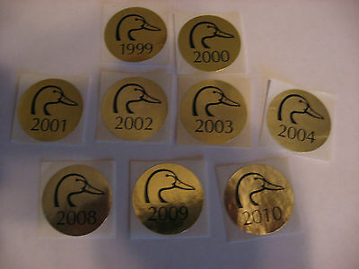 Ducks Unlimited  Donation Gold Stickers