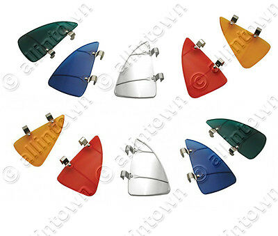 Breezies Window Vent Wing Wind Deflectors Red Green Blue Amber Chrome Stainless
