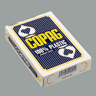 COPAG Poker Size Jumbo Face Plastic Playing Cards Blue - One Deck