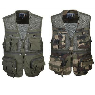 Multi Pockets Fly Fishing Hunting Cotton Jacket Travel Outdoor Photography Vest