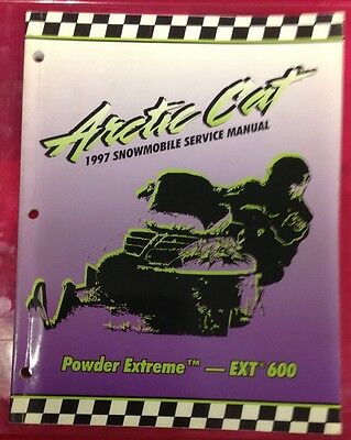 1997 ARCTIC CAT SNOWMOBILE Powder Extreme Ext 600 SERVICE MANUAL