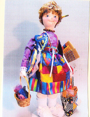 PATTERN - Crazy Quilter - fun cloth doll PATTERN - Magic Threads