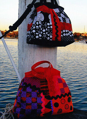 PATTERN - Mary Poppins Bag - large pieced bag PATTERN - Flying Fish - 2 sizes